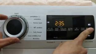 Çamaşır makinesinin programı takılı kalıyor